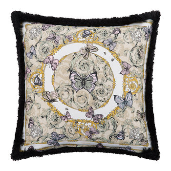 Le Jardin Silk Pillow - 30x30cm - Yellow