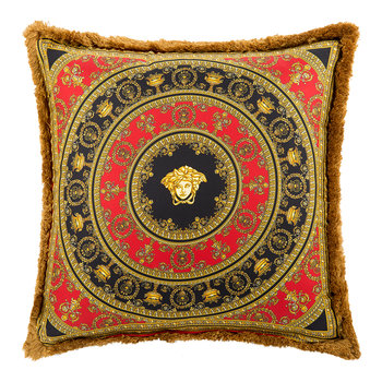I Love Baroque Silk Pillow - 50x50cm - Red/Black/Gold