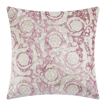 Bavelvet Pillow - 60x60cm - Pink/White