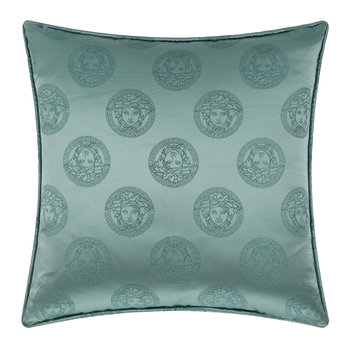 Medusa Royale Silk Cushion - 45x45cm - Green