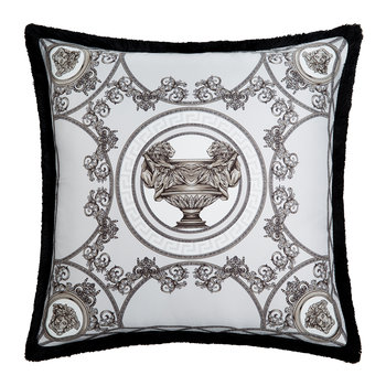 La Mini Coupe Silk Cushion - 45x45cm - Grey