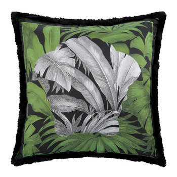 Depalma Reversible Silk Pillow - 50x50cm - Green