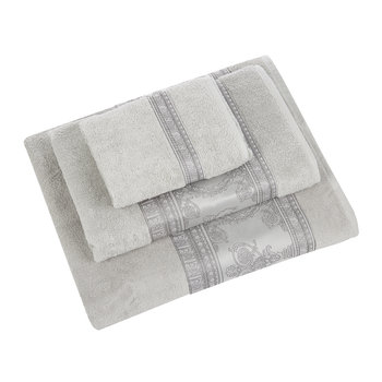 I Heart Baroque Luxe Towel - Grey
