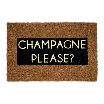 Champagne Please Glitter Door Mat