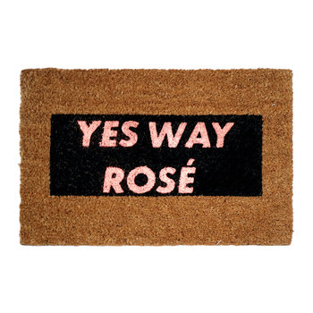 Yes Way Rosé Glitter Door Mat
