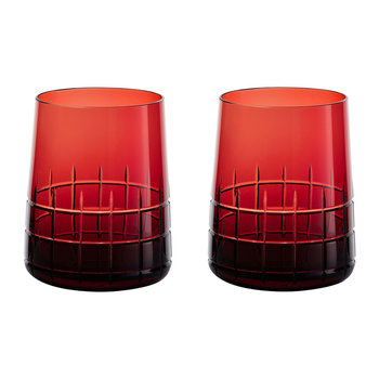 Graphik Goblets - Set of 2 - Red