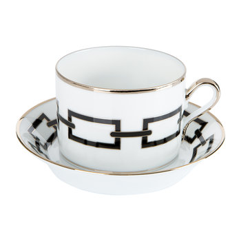 Catene Teacup & Saucer - Nero