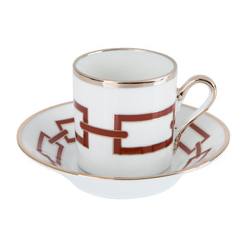 Catene Coffee Cup & Saucer - Scarlatto