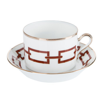 Catene Teacup & Saucer - Scarlatto