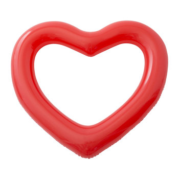 Beach, Please! Jumbo Inflatable Heart - Red