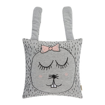 Little Ms. Rabbit Cushion - Grey