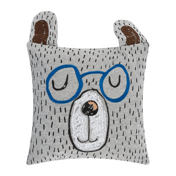 Little Mr Teddy Pillow - Grey