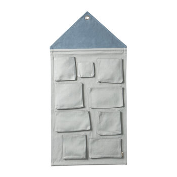 Hanging House Wall Storage - Dusty Blue