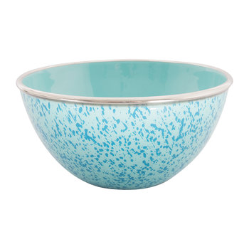 Large Enamel Oval Dish - Blue