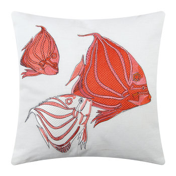 Fish Cushion - 45x45cm - Coral