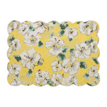 Hibiscus Placemat - Yellow