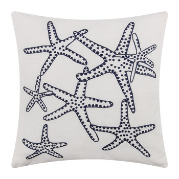 Majorque Cushion - 65x65cm - White/Navy