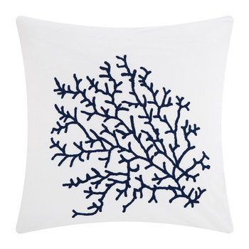 Palma Cushion - 65x65cm - White/Navy