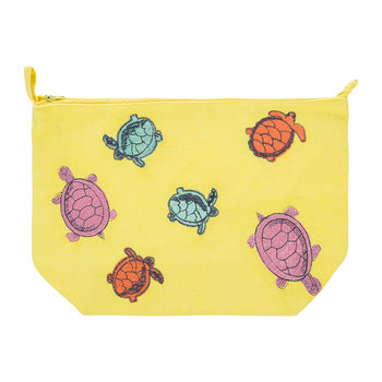 Turtle Cosmetics Bag - Yellow