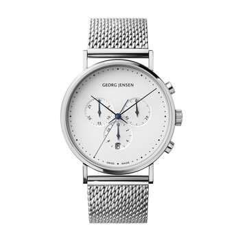 Men's Koppel Mesh Chronograph Watch - Silver