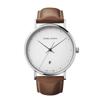 Men's Koppel White Dial Watch - Brown