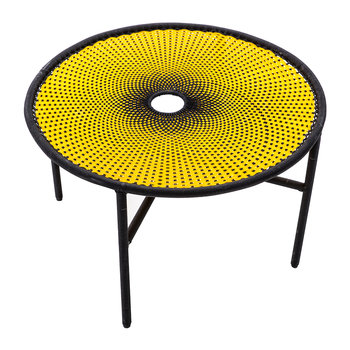 Banjooli Dining Table - Yellow/Black