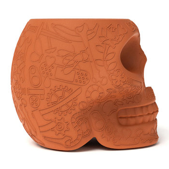 Mexico Stool/Side Table - Terracotta