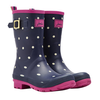 Women's Molly Mid-Height Navy Spot Wellies