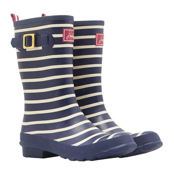 Women's Molly French Navy Stripe Wellies