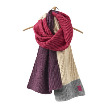 Women's Annis Oversized Scarf - Ruby