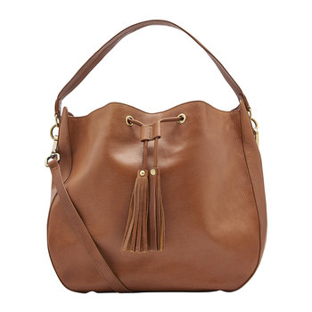 Beau Leather Shoulder Bag - Chestnut