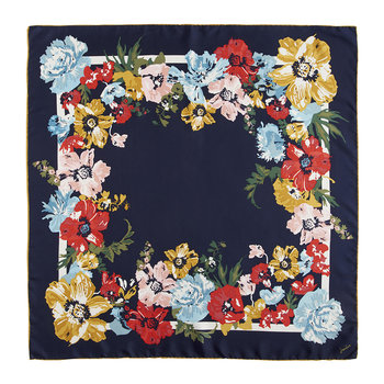 Bloomfield Silk Scarf - French Navy Posy