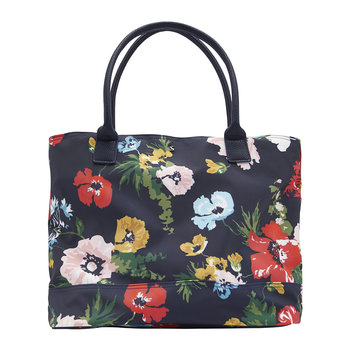 Cariwell Canvas Shopper Bag - French Navy Posy