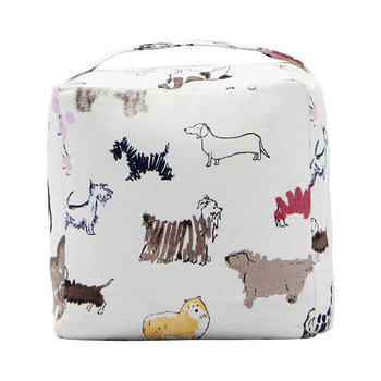 Cube Cotton Door Stop - All Over Dog