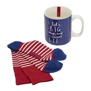 Men's Sock & Mug Gift Set - Big Mugs