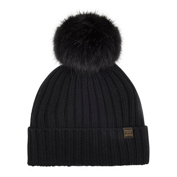Detachable Pom-Pom Hat - Black