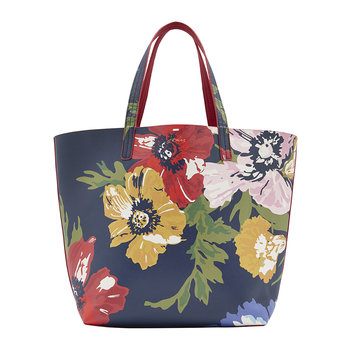 Reversible Revery Printed Shoulder Bag - French Navy Posy