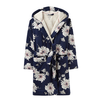 Idlewhile French Navy Peony Dressing Gown
