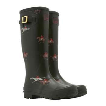 Women's Adjusta Wellies - Olive Horse