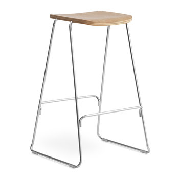 Just Barstool - Oak/Chrome