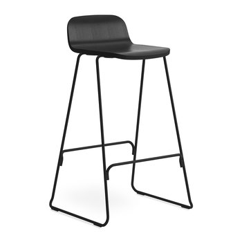 Just Barstool With Back - Black
