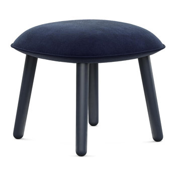 Ace Footstool - Velour - Dark Blue