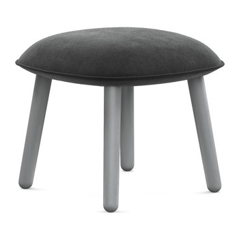 Ace Footstool - Velour - Grey