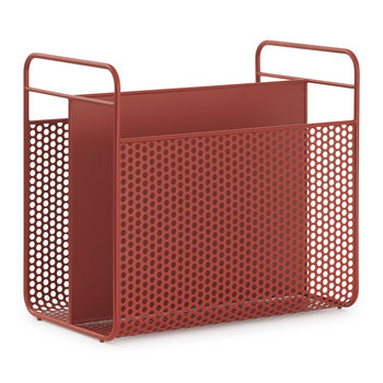 Analog Magazine Rack - Red