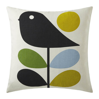 Early Bird Reversible Pillow - 45x45cm - Duck Egg