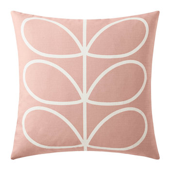 Linear Stem Pillow - 45x45cm - Pale Rose