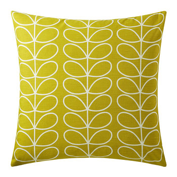 Small Linear Stem Reversible Pillow - 50x50cm - Sunflower