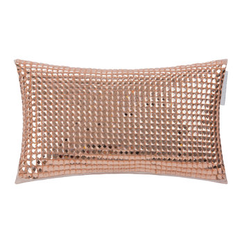 Square Diamond Bed Cushion - 18x32cm - Rose Gold