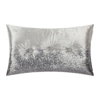 Glitter Fade Bed Pillow - 30x50cm - Silver