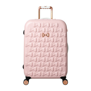Molded Beau Suitcase - Pink